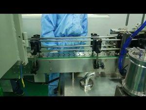 """מכונת מילוי והברגה כפולה של 30 מ""""ל עד 100 מ""""ל לבקבוק עגול"""
