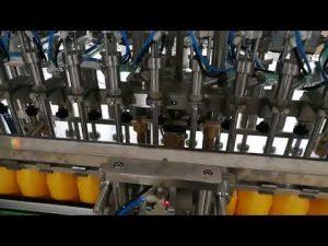12 ראשים מכונת מילוי בקבוקים אוטומטית לרוטב שמני קטשופ קוסמטיים