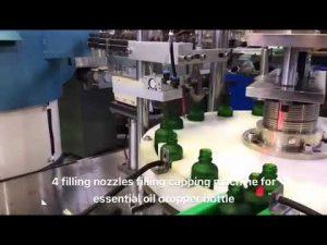 מכונת מילוי שמן אתרי cbd בקבוק טפטפת